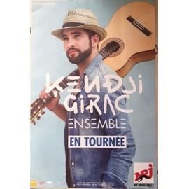 Kendji Girac - Ensemble - En tournée - AFFICHE / POSTER Livré Roulé
