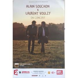 Alain Souchon - Laurent Voulzy - En Concert - AFFICHE / POSTER Livré Roulé