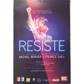 R�siste - France Gall - Com�die Musicale - Affiche / Poster Livr� Roul�