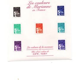 Bloc Timbre Neuf 41 - Les couleurs de Marianne en francs - 2001