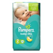 Pampers Baby Dry Taille 2 (Mini) 3 A 6 Kg 58 Couches
