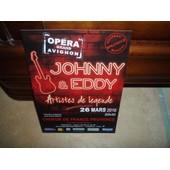 Flyer De Johnny Hallyday Et De Eddy Mitchell Artistes De Legendre.