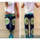 Femmes D'�t� Floraux Exotique L�ches Baggy Trousers Palazzo Jambe Large Pantalon