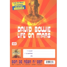 DAVID BOWIE LIVE ON MARS /PLV FORMAT A4