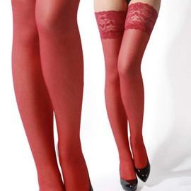 Paire De Bas Noir Blanc Rouge Carnation Rose Sexy Lingerie Dentelle �rotique Collant Pour Porte Jarretelles
