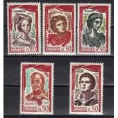 France 1961 : Com�diens Fran�ais : La Champmesl� / Talma / Rachel / Raimu / G�rard Philipe - S�rie Enti�re De 5 Timbres Neufs **