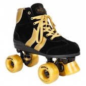 Roller Quad Patin Complet Authentic Black/Gold - Taille 38