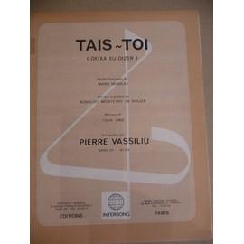 TAIS-TOI Pierre Vassiliu