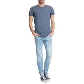 Jeans Diesel Belther Tapered Fit Bleu Clair Homme