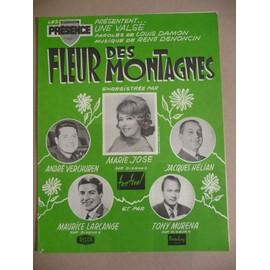 FLEUR DES MONTAGNES Verchuren Marie José