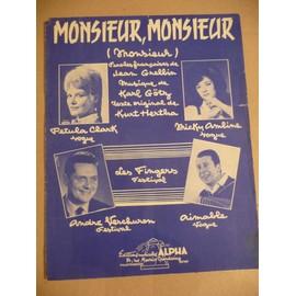 MONSIEUR, MONSIEUR Karl Götz, Pétula Clark, Verchuren