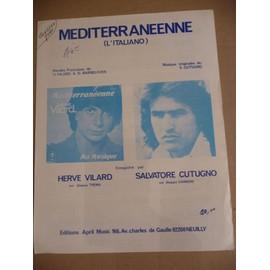 MEDITERRANEENNE (L'ITALIANO) Hervé Vilard, S.Cutugno