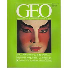 Geo N�19 Du 01/09/1980 : J�rusalem - Humboldt - Op�ra Chinois - �l�phants