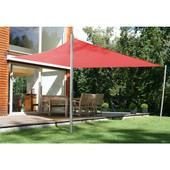 Voile D'ombrage Carr� 3 X 4 M Rouge 00te