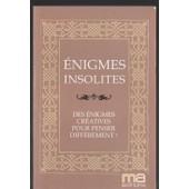 �nigmes Insolites � Des �nigmes Cr�atives Pour Penser Diff�rement! de association epikurieu