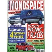 L'officiel Du Monospace N�8 - Toyota Picnic 7 Places, Turbo-Diesel : Les 4 �preuves 4 V�rit�s, ... de COLLECTIF