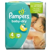 Pampers Baby Dry Taille 4 7 A 18 Kg 25 Couches