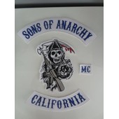 Kit Dorsal De 4 Patchs Sons Of Anarchy Soa Harley Ecusson