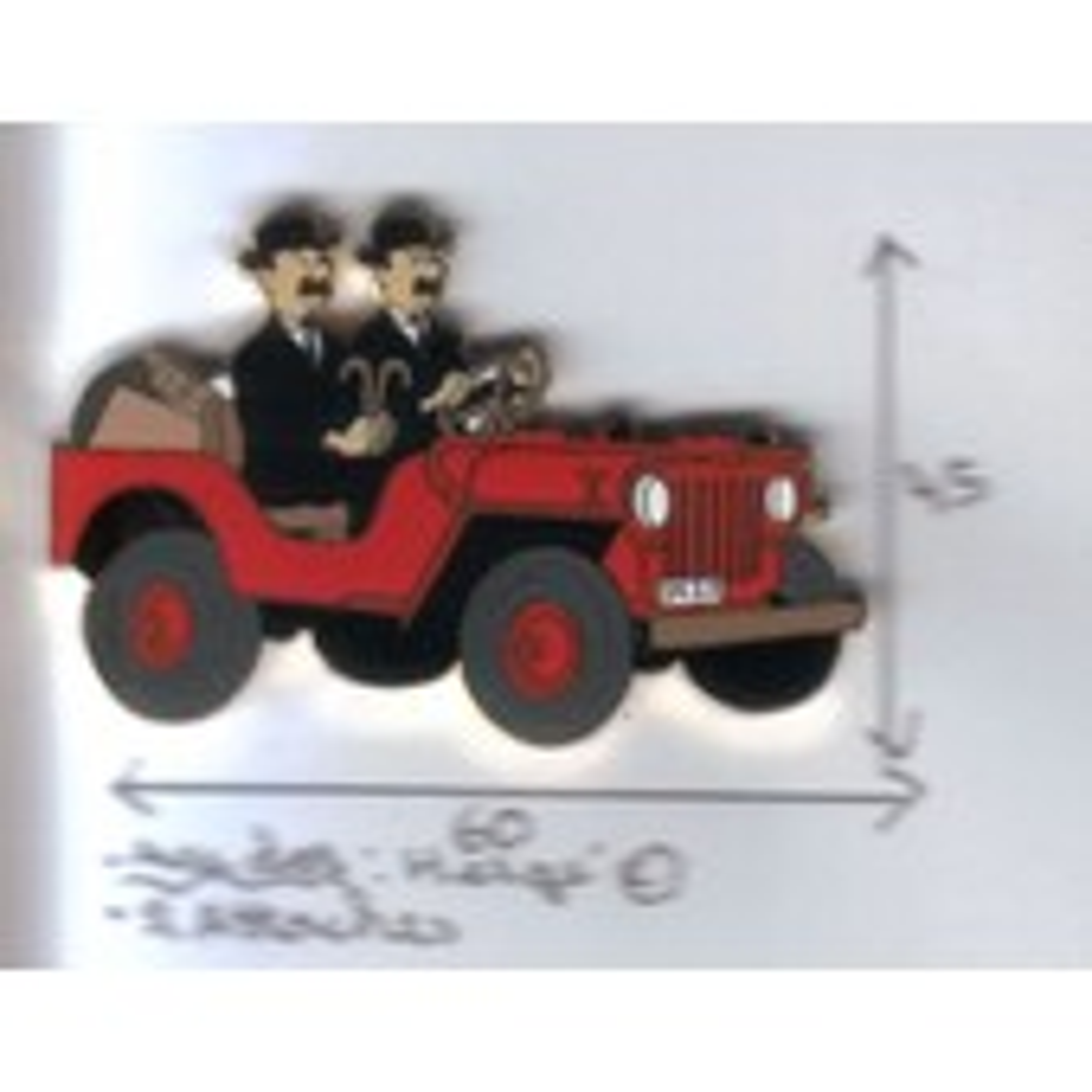 Dupons En Jeep Au Pays De L'or Noir Orn-40.4 Rouge.Or
