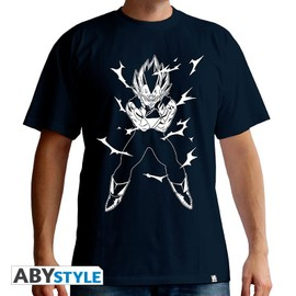 Dragon Ball - T-Shirt Dbz/Vegeta Homme Mc Navy - Basic (Xxl)