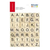 Artemio Assortiment De 42 Lettres En Bois Scrabble