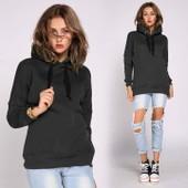 Veste Sweat Femme Capuche Pull Blouson Fashion Mode Tendance Look Branch� Classe Et D�contract�e Pull