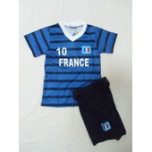 Maillot De Foot France 2/3/4/6/8/10/12/14 Ans Short