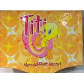 Mon Coffret Secret 25x20cm Set Papeterie Correspondance Titi Jaune