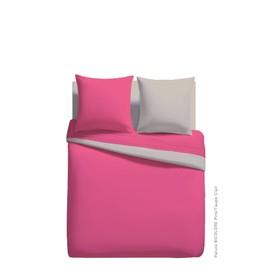 Parures Housse De Couette 240x220cm Bicolore 100% Polyester Microfibre
