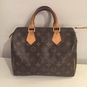 Sac � Main Louis Vuitton Speedy Cuir Marron