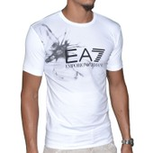 Ea7 - Tee Shirt Manches Courtes - Homme - Train Butterfly - Blanc
