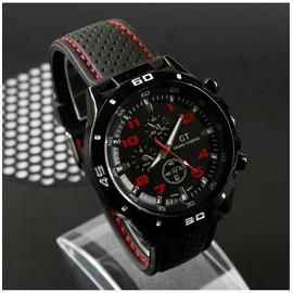 Montres Hommes Bracelet � Quartz Analogique Noir Inoxydable Sport �crin De Luxe