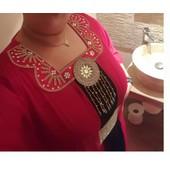 Robe Dubai Rouge Et Noir