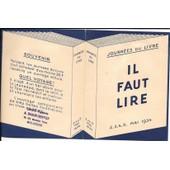 Journ�es Du Livre 1934 - 4 Pages Promotionnel (13,5 X 10,5 Cm)