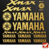 Planche De 16 Stickers, Autocollants , Yamaha Xmax X Max X-Max - Or - Sticker, Autocollant, Scooter, Bike, Kit, Deco, Tuning, Decal, Gt-Design, Gt Design, Gtdesign