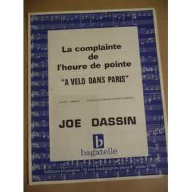 """A VELO DANS PARIS"" JOE DASSIN"