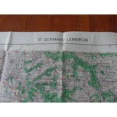 Carte Ign Saint Germain Lembron de IGN