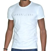 Armani Jeans - Tshirt Manches Courtes - Homme - C6h12 Incomplete - Blanc