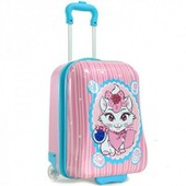 Madisson Bagage Valise Cabine Enfant Fille Chat - 2 Roues - Rose