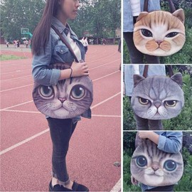 Sac � Bandouli�re Aimable Polyester Loisirs Chat Forme Femmes