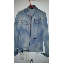 Veste En Jean Diesel 100%Coton Xl Bleu Clair