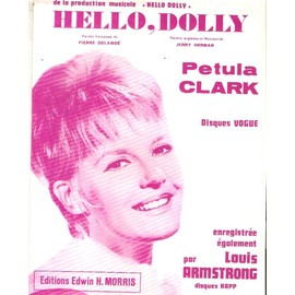 partition petula clark HELLO DOLLY rouge LOUIS ARMSTRONG