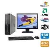 Lot PC HP Compaq 6005 Pro SFF AMD 3GHz 4Go 160Go Graveur WIFI Windows Xp + 17