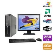Lot PC HP Compaq 6005 Pro SFF AMD 3GHz 4Go 250Go Graveur WIFI Windows Xp + 19