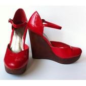 Chaussures Compens�es Rouges Taille 38