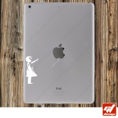 Sticker Autocollant Fillette Lache Ballons Bansky Ipad 1 / 2 / Air / Air 2 / Retina / Mini / Pro Universel Toute Tablette - Stickers Skin Skins Autocollants Apple