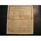 Dette Publique De L'empire Ottoman. R�c�piss� Au Porteur N� 0073164 D'un Titre D'un Capital De 1000f. Juin 1933