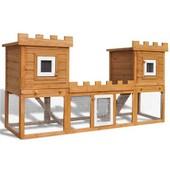 Grande Cage Clapier Ext�rieur Pour Lapins En Bois Double Clapiers