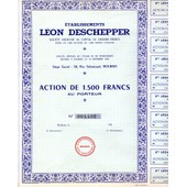 Action De 1500 F Leon Deschepper - Roubaix
