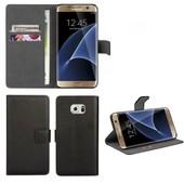 Coque Housse Pu Cuir Pour Galaxy S7 Edge Noir